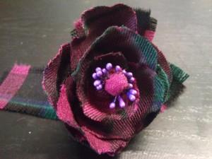 Tartan hand made corsage