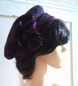 silk and wool mix quality beret is very elegant looking and warm.