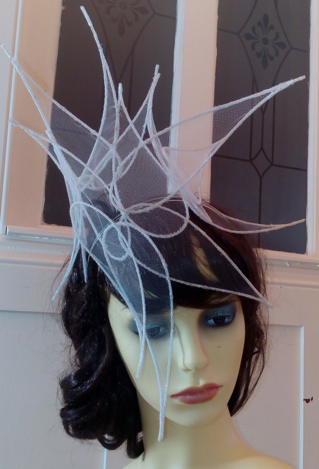 Contemporary Bridal headpiece 7