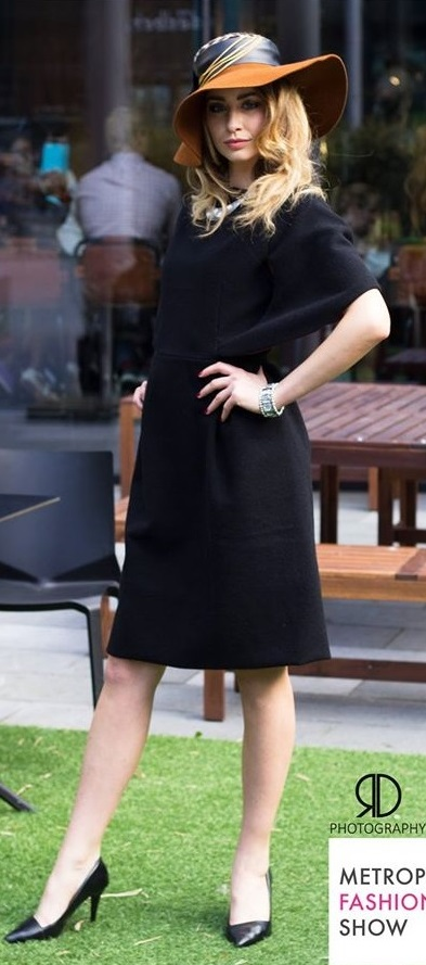 Wool black dress r