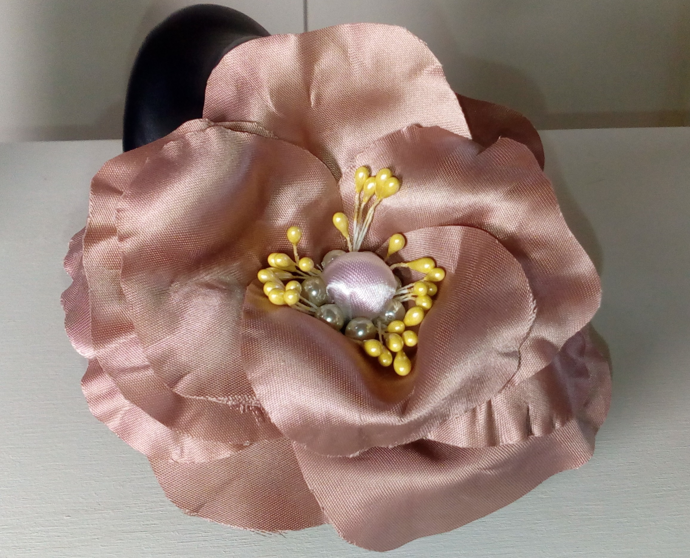 Dusty rose pink corsage 2