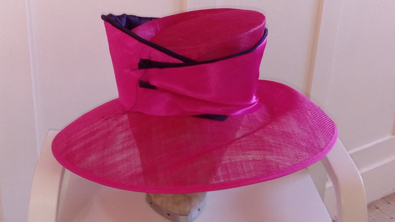 fuchsia hat working on progress
