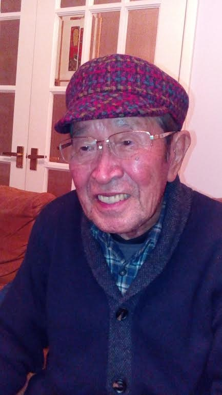 Mr. Oka is very happy to wear his purple base 100% Wool Tweed made for his size and style.