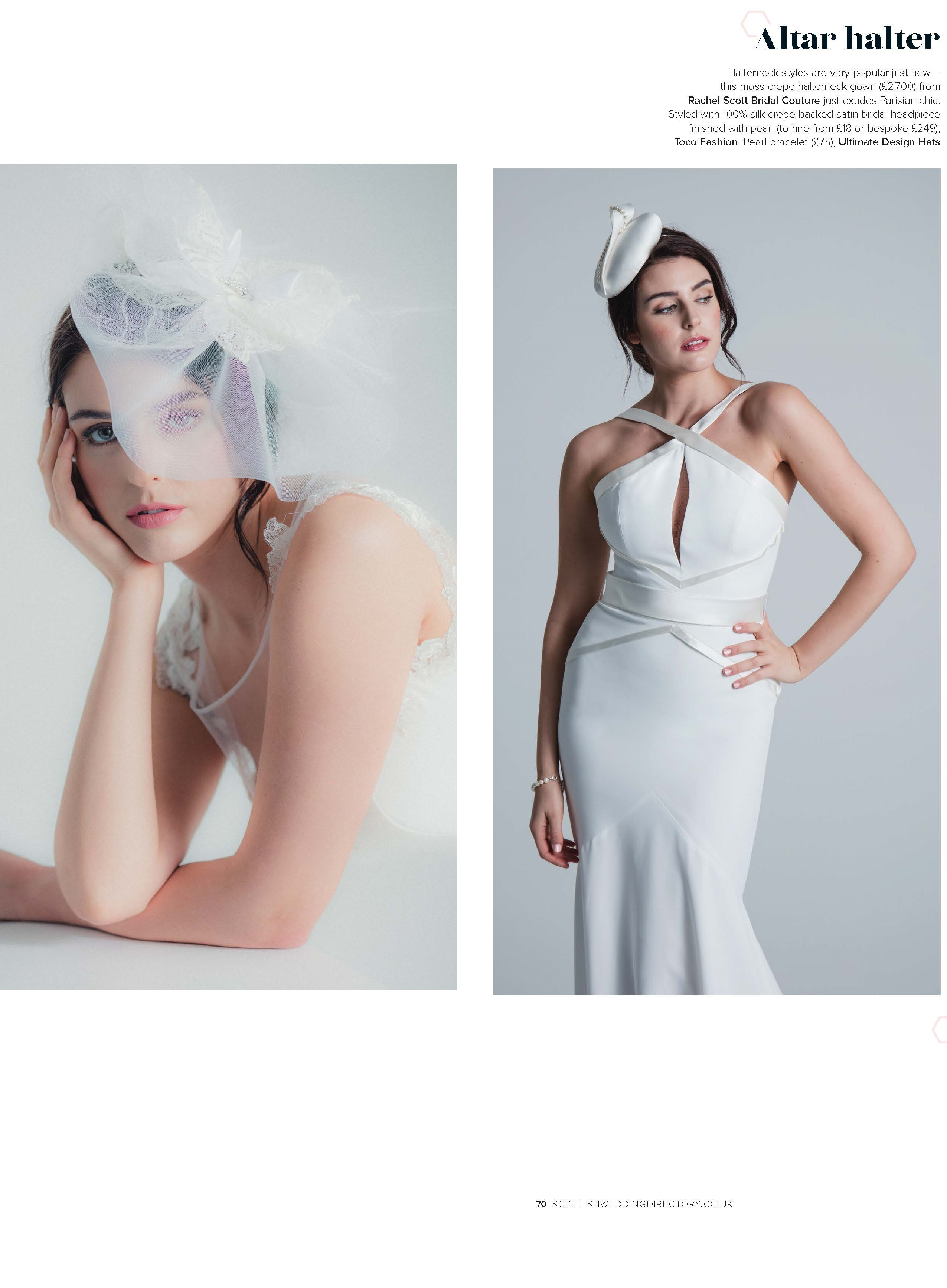 Bridal headpieces -  available for bespoke order and hiring